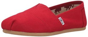 TOMS Classic Slip-on Canvas Red Flats