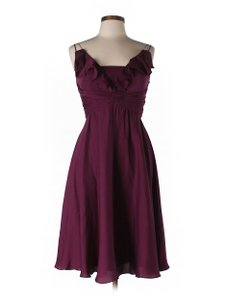 BHLDN Berry Silk Spandex; Acetate Lining. Couplet Vintage Bridesmaid/Mob Dress Size 12 (L)