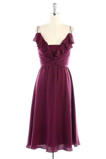 BHLDN Berry Silk Spandex; Acetate Lining. Couplet Vintage Bridesmaid/Mob Dress Size 14 (L)