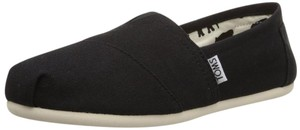 TOMS Classic Slip-on Canvas Black Flats