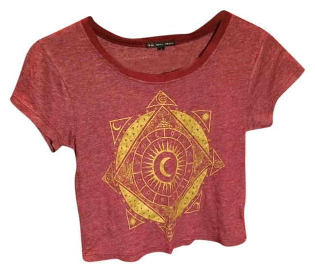 Preload https://img-static.tradesy.com/item/19809814/urban-outfitters-maroon-crop-tee-shirt-size-4-s-0-1-650-650.jpg