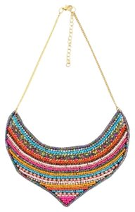 Shop One Twenty Multi Color Seed Bead Statement Bib Necklace