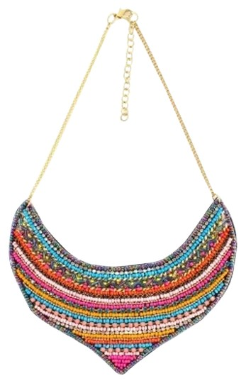 Preload https://img-static.tradesy.com/item/19809858/multi-color-seed-bead-statement-bib-necklace-0-1-540-540.jpg