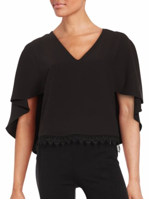 Lovers + Friends Edgy Romantc Top Black