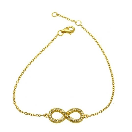 Preload https://item3.tradesy.com/images/gold-plated-infinity-bracelet-19809892-0-0.jpg?width=440&height=440