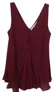 Max Studio Top Cranberry red