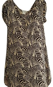 Paul & Joe short dress Zebra print on Tradesy