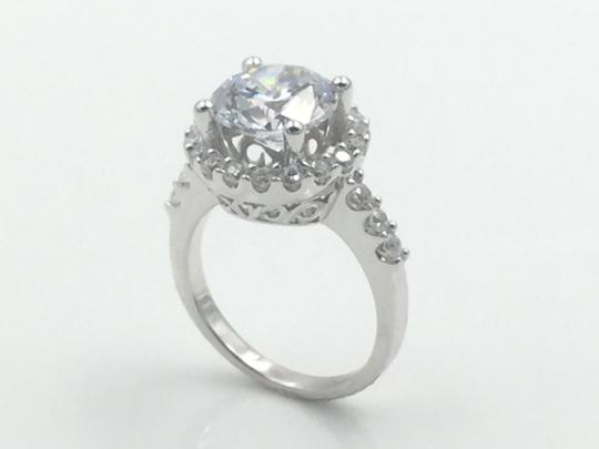 Other 3 Carat Cubic Zirconia Rhodium Plated .925 Sterling Silver Ring