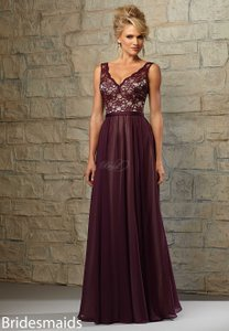 Mori Lee Eggplant 714 Dress