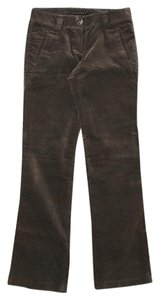 Theory Velour Velvety Texture Olive Green Casual Pants