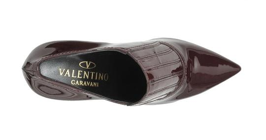 Valentino Patent Leather Burgundy, Red Boots