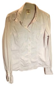 True Religion Button Down Shirt Light lavender