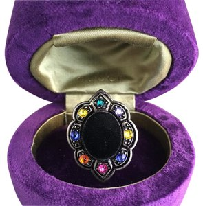 GUCCI Ring with velvet and crystals