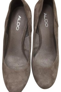 ALDO Brown with glitter Wedges