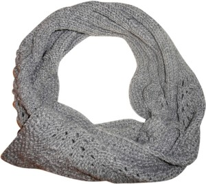 Unknown Heather Gray Knit Sweater Scarf