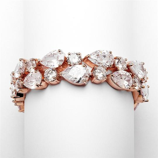 Preload https://img-static.tradesy.com/item/19810120/mariell-rose-gold-red-carpet-cz-pear-shaped-statement-4128b-rg-6-bracelet-0-0-540-540.jpg