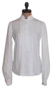 Diane von Furstenberg Pintuck Shirt Button Down Shirt White