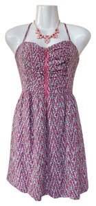 Guess short dress pink Chevron Zipper Pebbled Spaghetti Straps Pattern on Tradesy