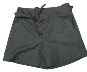 Ann Taylor High Waisted Tie Waist Cuffed Shorts Black