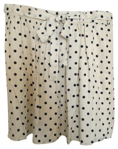 Lands' End Mini Skirt Cream