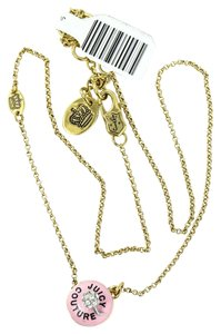 Juicy Couture * Juicy Couture Gold Tone Cup Cake Charm Necklace