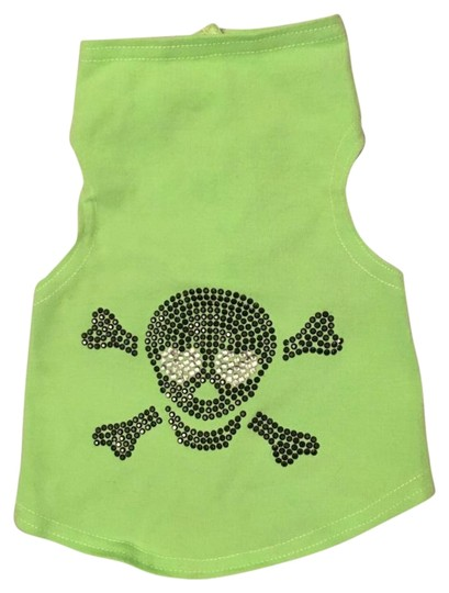 Preload https://img-static.tradesy.com/item/19810212/bright-green-small-dog-1-5lbs-rhinestone-skull-sweater-0-1-540-540.jpg