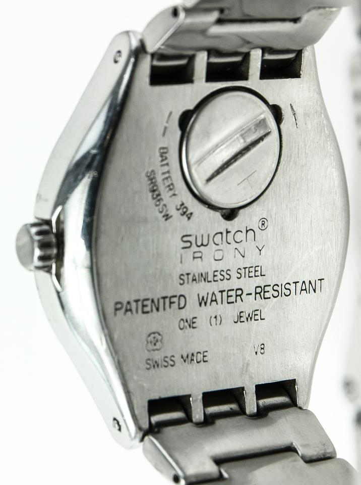 how to open swatch irony watch