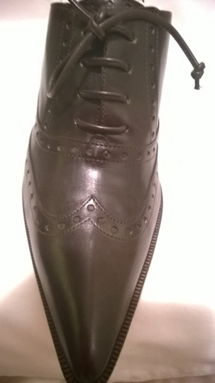 Michael Kors Collection Italian Leather Designer Vintage Dark Chocolate Brown Mules
