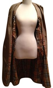 Burberry Plaid Lining Button Front Trench Coat