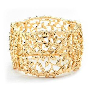 Mariell Gold Open Vine Stretch 4115b-g Bracelet