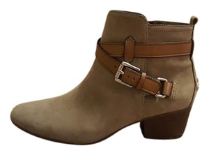 Coach Ankle Leather Suede Brown Taupe Boots