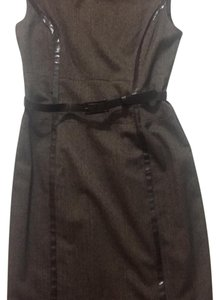 Anne Klein Sexy Knee-length Belted Snakeskin Dress