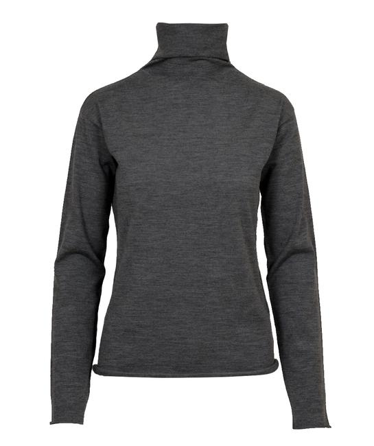Preload https://item3.tradesy.com/images/piazza-sempione-gray-rollup-edges-fine-wool-sweaterpullover-size-8-m-19810452-0-0.jpg?width=400&height=650