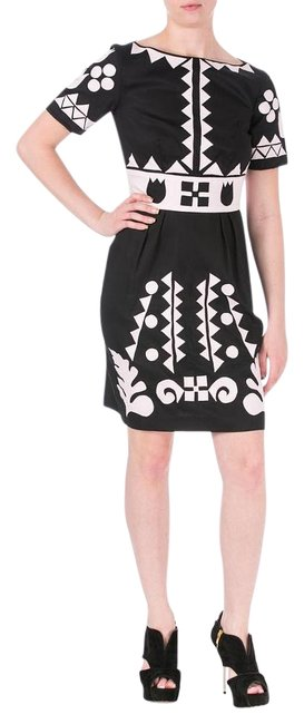 Preload https://item4.tradesy.com/images/cynthia-rowley-black-pink-coktail-above-knee-workoffice-dress-size-4-s-19810453-0-1.jpg?width=400&height=650