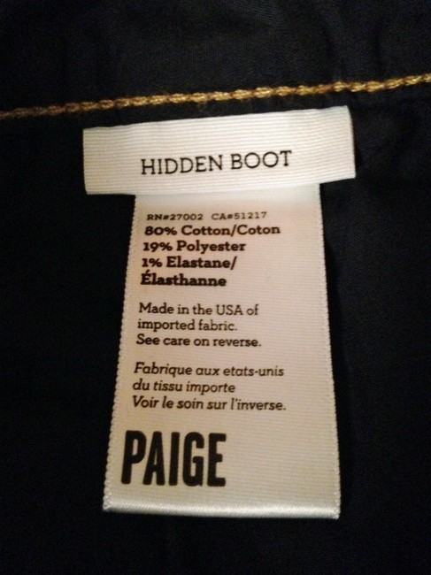 Paige Designer Hidden Boot Cut Jeans-Medium Wash