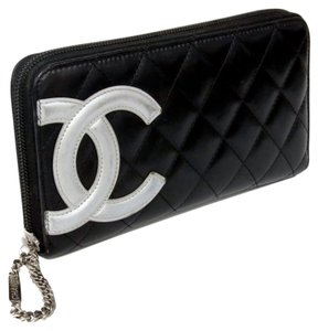 Chanel Chanel Signature CC Cambon 2.55 Jumbo Quilted Lambskin Long Wallet