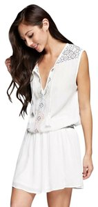 Love Stitch short dress Off White on Tradesy