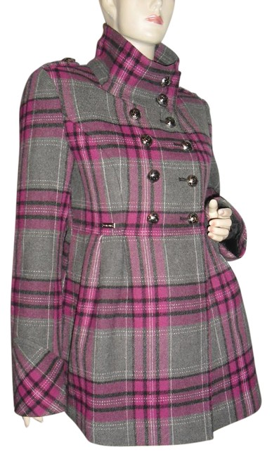 Preload https://img-static.tradesy.com/item/19810549/guess-gray-maroon-plaid-madras-miltary-jacket-size-6-s-0-1-650-650.jpg