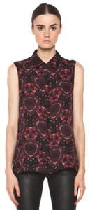A.L.C. Mackay Silk Top red floral