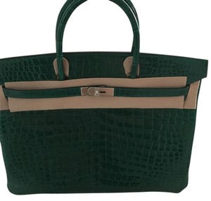 Herms Tote in Verte Emeraude