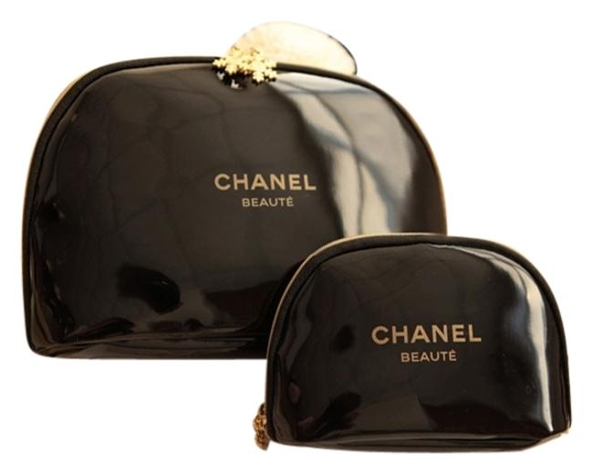 Item - Black & Gold Set Of 2 You'll Love Cosmetic Bag