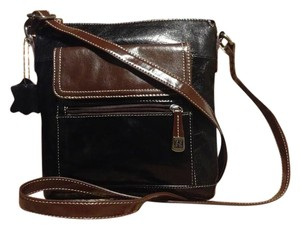 Giani Bernini Glazed Leather Cross Body Bag