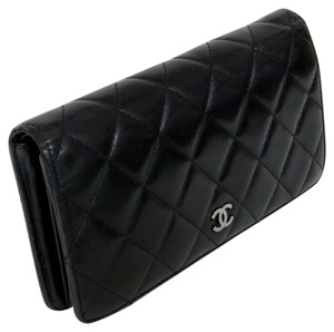 Chanel Chanel Signature Quilted Lambskin CC Monogram Long Wallet