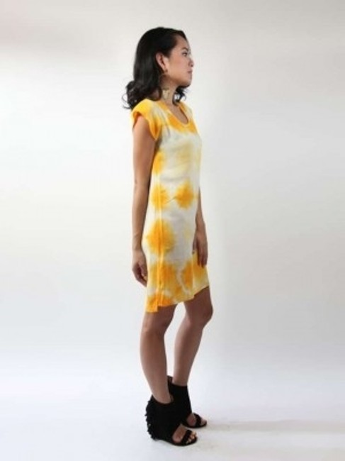 C&C California short dress yellow and white on Tradesy