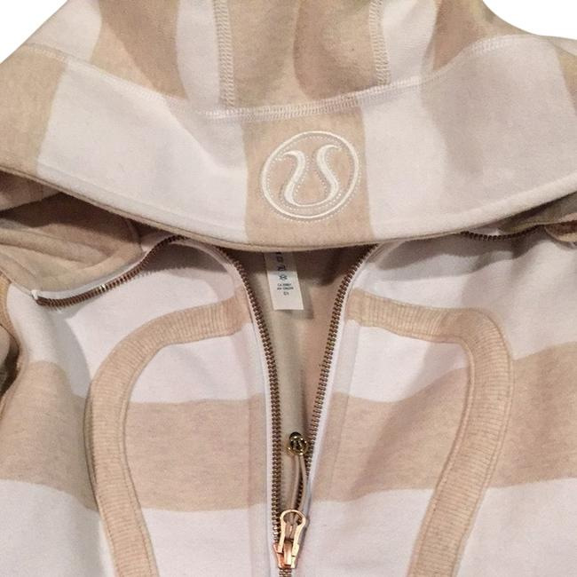 Item - Gold and Ivory Scuba Fleece Hoodie Activewear Outerwear Size 2 (XS, 26)