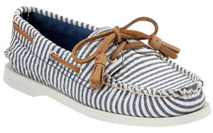 Sperry Blue/White stripe Flats