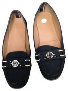 Tommy Hilfiger Moccasins Suede Loafers Navy blue Flats