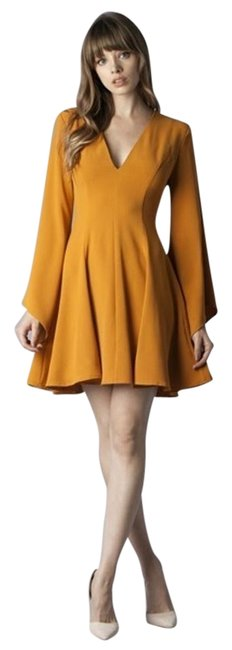 Preload https://item5.tradesy.com/images/mustard-fit-and-flare-mid-length-short-casual-dress-size-4-s-19810764-0-1.jpg?width=400&height=650