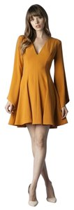 ZEMA Boutique short dress Mustard Fit And Flare on Tradesy