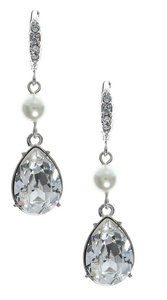 Givenchy Givenchy Silvertone Pearl Drop Earrings